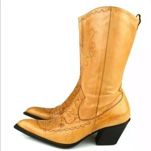Colin Stuart Western Pointed Cowboy boot Sz 6.5